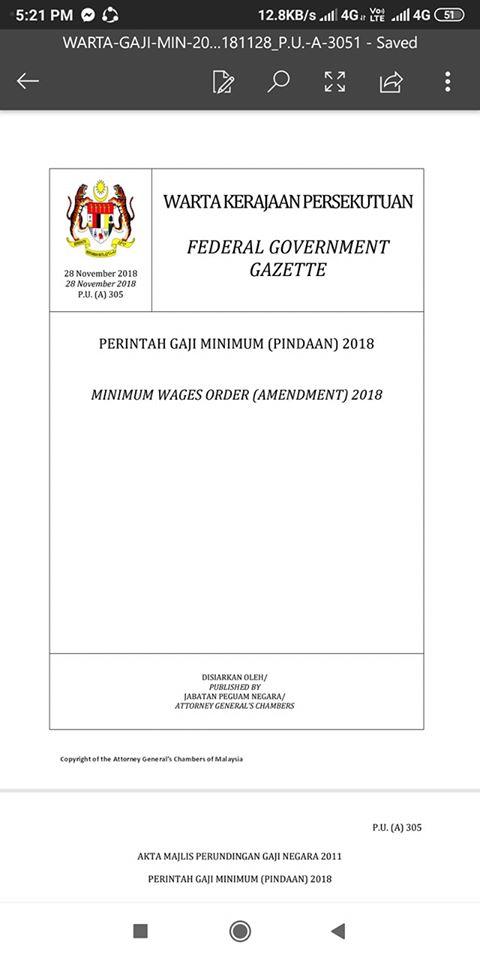Aku Anak Iban Perintah Gaji Minimum Mula Ba 1 Januari Facebook