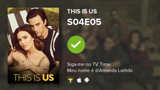 I've just watched episode S04E05 of This Is Us! #thisisus  #tvtime https://tvtime.com/r/1f41Y