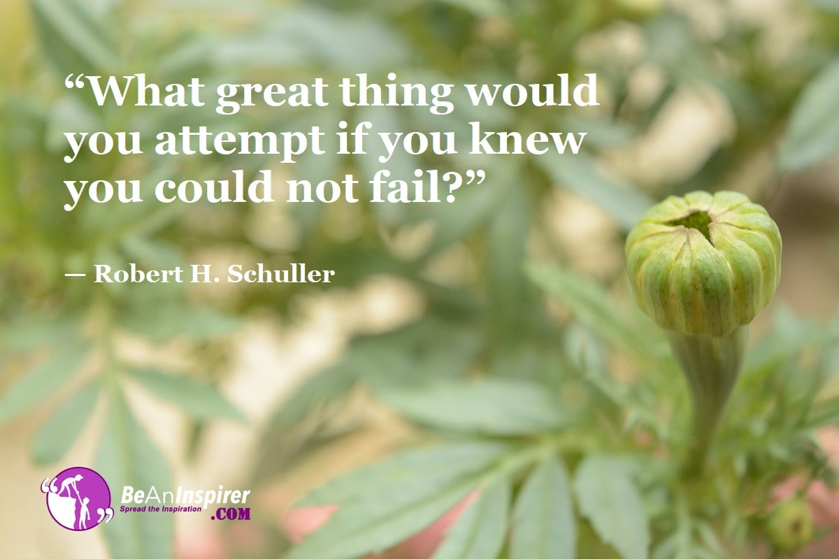 """""""What great thing would you attempt if you knew you could not fail?"""" — Robert H. Schuller #InspirationalQuotes <br>http://pic.twitter.com/HFHbQWLcgd"""