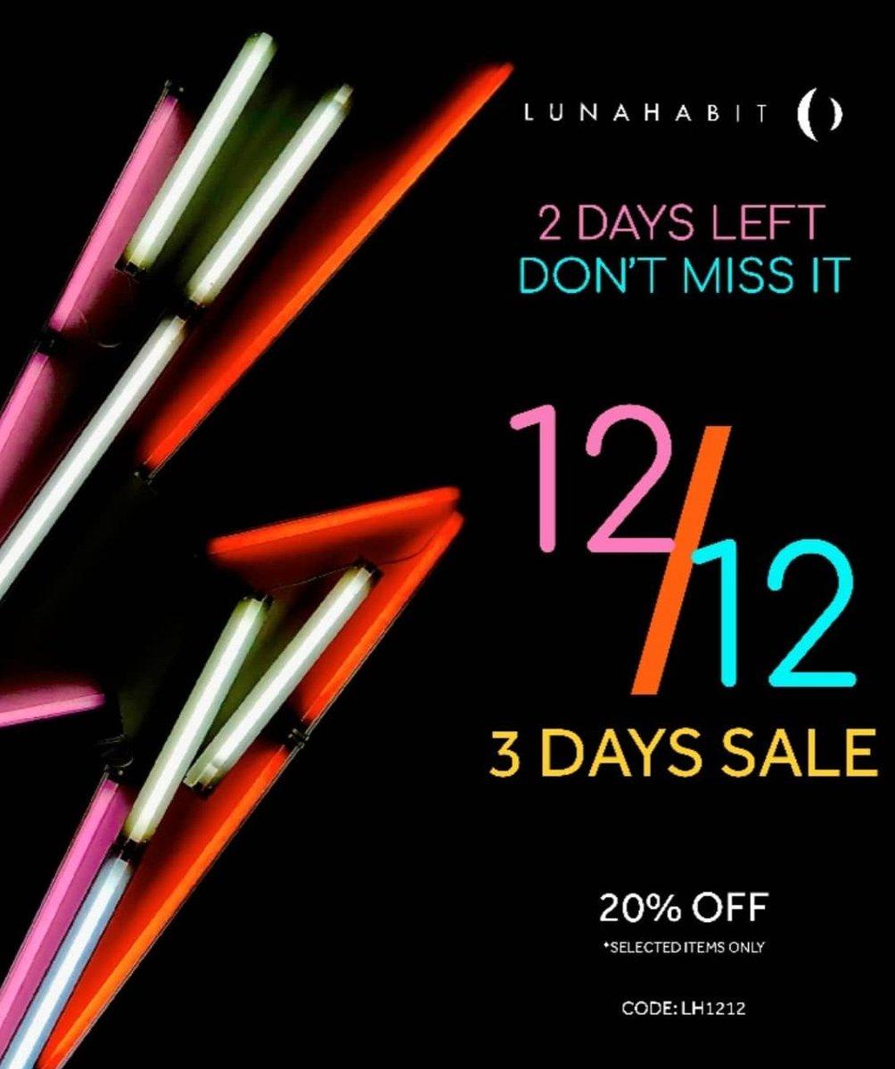 Jangan sampai ketinggalan lagi, promo #harbolnas1212 di @LunaHabit hingga 15 Des 2019. Gunakan kode LH1212 😊  SHOP NOW