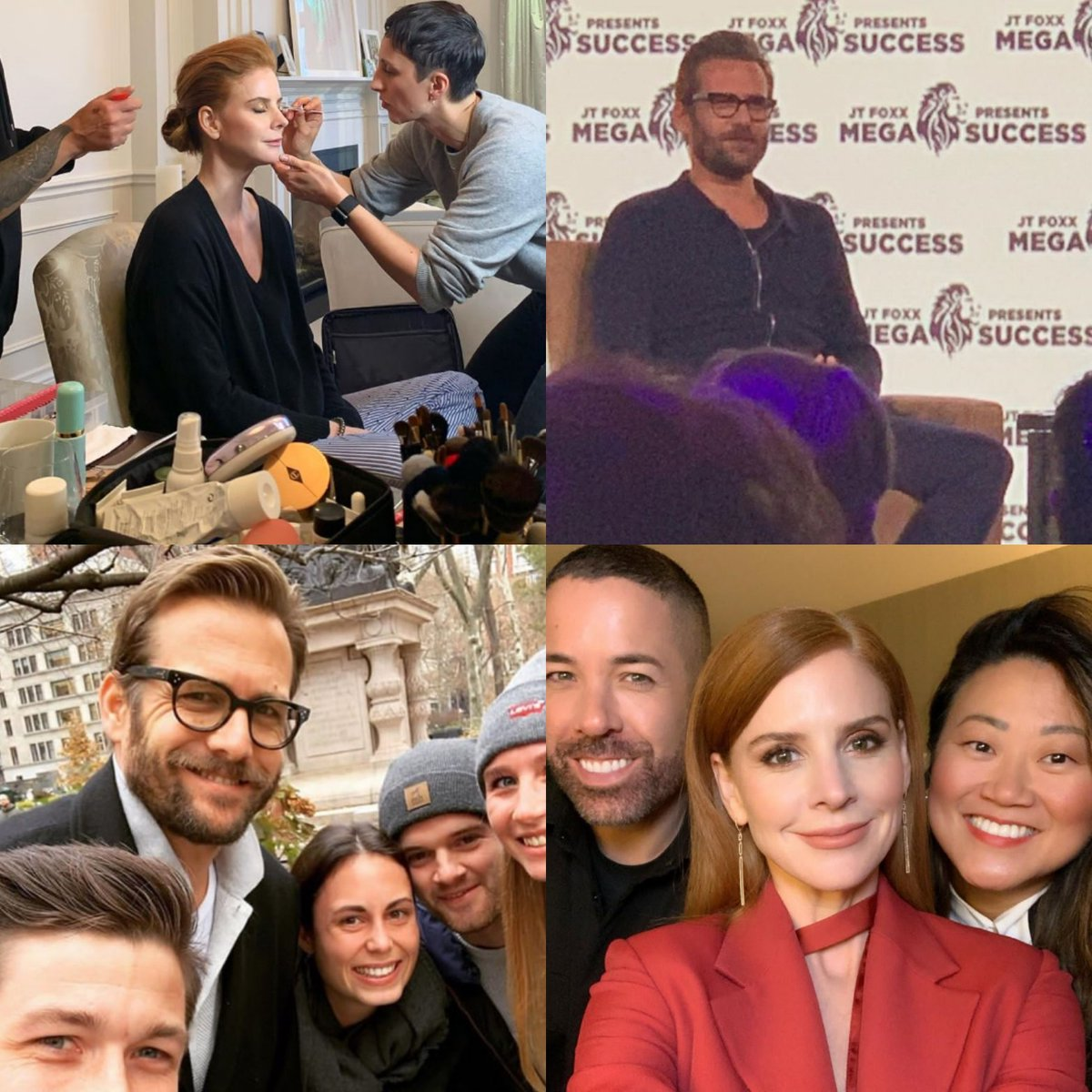 I never thought I'd miss this talented people this much but here I am and there they are. Living the life post #Suits, Gabriel is slaying [with his beard] and Sarah said she crushed reunion. <br>http://pic.twitter.com/UJPYwNfA61