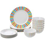 Image for the Tweet beginning: AmazonBasics 18-Piece Dinnerware Set -