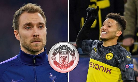 Manchester United are confident of signing Dortmund winger Jadon Sancho next month and are also set to move for Tottenhams Christian Eriksen. (Source: Daily Mirror)