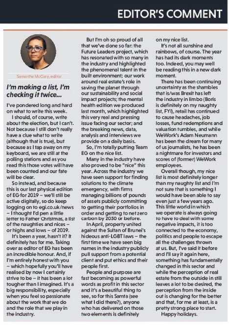 I couldn't write about the #generalelection in this week's #leader but I could write a #naughty and #nice list. If you need to feel good about yourself, have a little read. Lots of love, Samta 🤶🏻