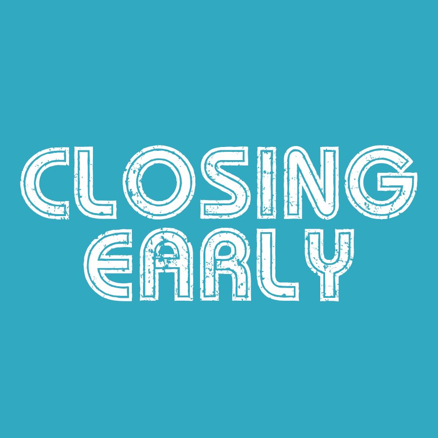 Image for Just a reminder that we are closing at 12.30pm today. Open as usual on Monday morning. https://t.co/L3SYW2majv