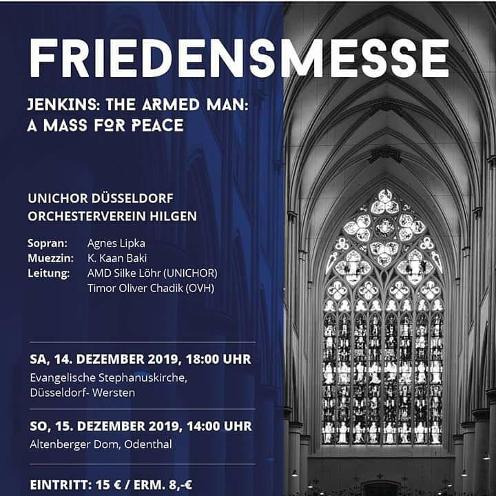TICKETVERLOSUNG:  Die Gewinner/innen der 3 x 2 Tickets für die Friedensmesse des #UNICHOR der #HHU Düsseldorf wurden benachrichtigt.  An alle, die leer ausgingen, dennoch eine herzliche Einladung zu diesem schönen Konzert in der Vorweihnachtszeit.pic.twitter.com/9rk4j11TqN