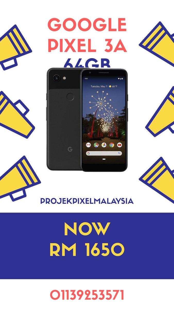 Google Pixel 3A (64gb) Now : RM 1650  4gb RAM 5.6' P-OLED  12.2mp (main) 8mp (selfie) 3000 mAh Snapdragon 670 Android 10  Whatsapp: 01139253571 Link :  http:// wa.me/601139253571    <br>http://pic.twitter.com/fbcxw0eCDj