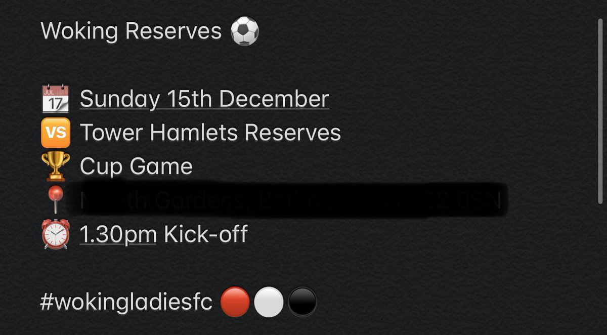 🚨 SUNDAY MATCHDAY DETAILS 🚨 * Change of Location for our Reserves team this weekend, address details can be found below * Weavers Field, Vallance Rd, London, E2 6HD