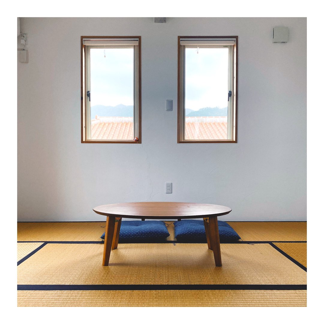 Sometimes silence and simple is the loudest love. We needed this little tatami room for our mornings, for our coffees, and to hold space for our thoughts and each other. #tatami #tatamiroom #ishigaki #japan #travelasia