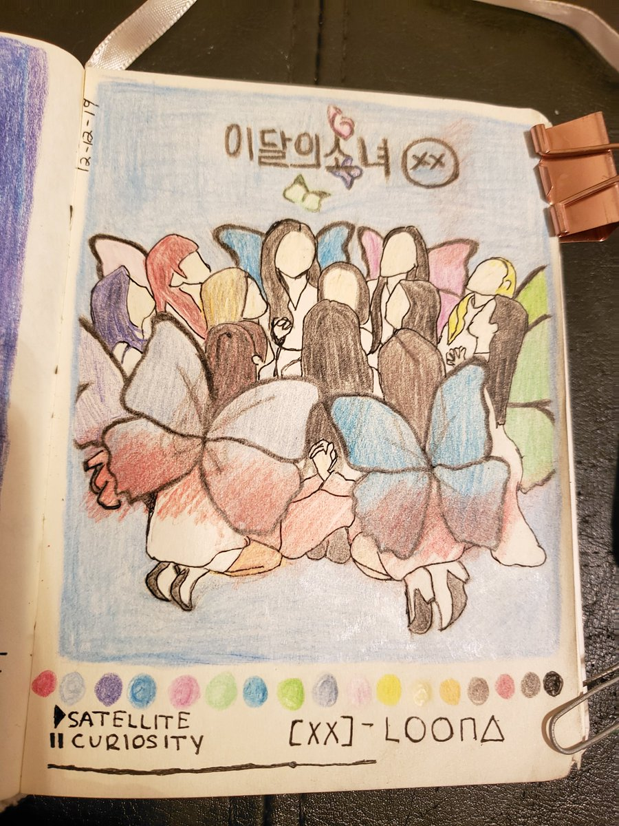 Drew @loonatheworld XX cover earlier while streaming in anticipation for 365. Loona never disappoints. XX was one of my fav albums this year and Im sure theyll make my list next year as well #365WithLOONA