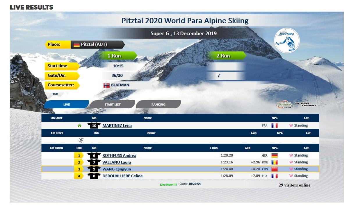 In Pitztal , It's Europa Cup day for #ParaAlpine!  You can check the live results here: https://bit.ly/34eB7G4pic.twitter.com/PIV1OAUrVb