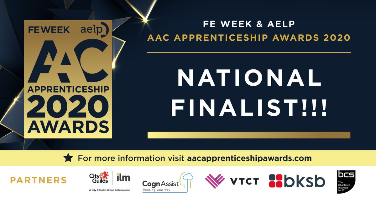 We are delighted to announce that  @ManMetUni has been selected as one of just two organisations shortlisted in the 'Digital Apprenticeship Provider of the Year' category at the  @FEWeek &  @AELPUK AAC  #ApprenticeshipAwards2020!