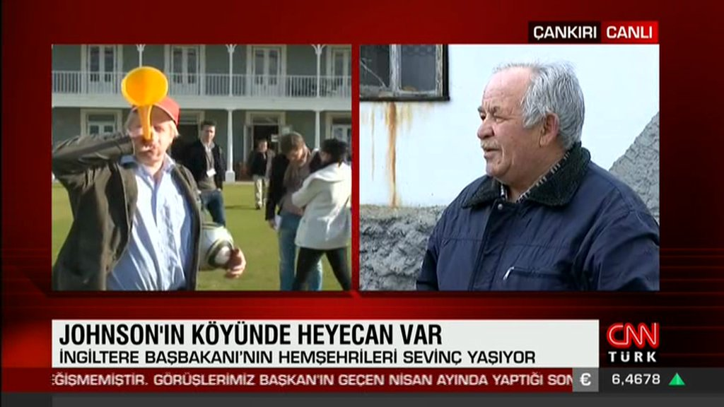 "CNN Türk reporting live from Boris Johnson's ancestral village in central Turkey. Villagers say they are proud at Tory election win and are ""waiting for Boris to visit"" <br>http://pic.twitter.com/a1p1YlWmre"