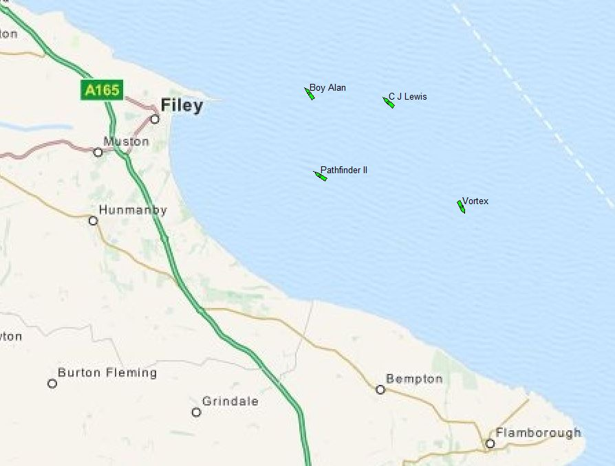 #Filey fishermen are busy today. No doubt out there catching their Christmas salmon. https://t.co/L8GaR4DBH6