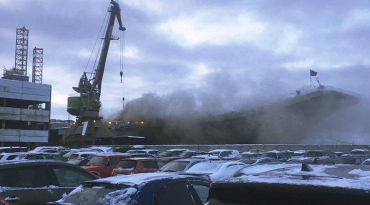 Пожар на авианосце Адмирал Кузнецов потушен