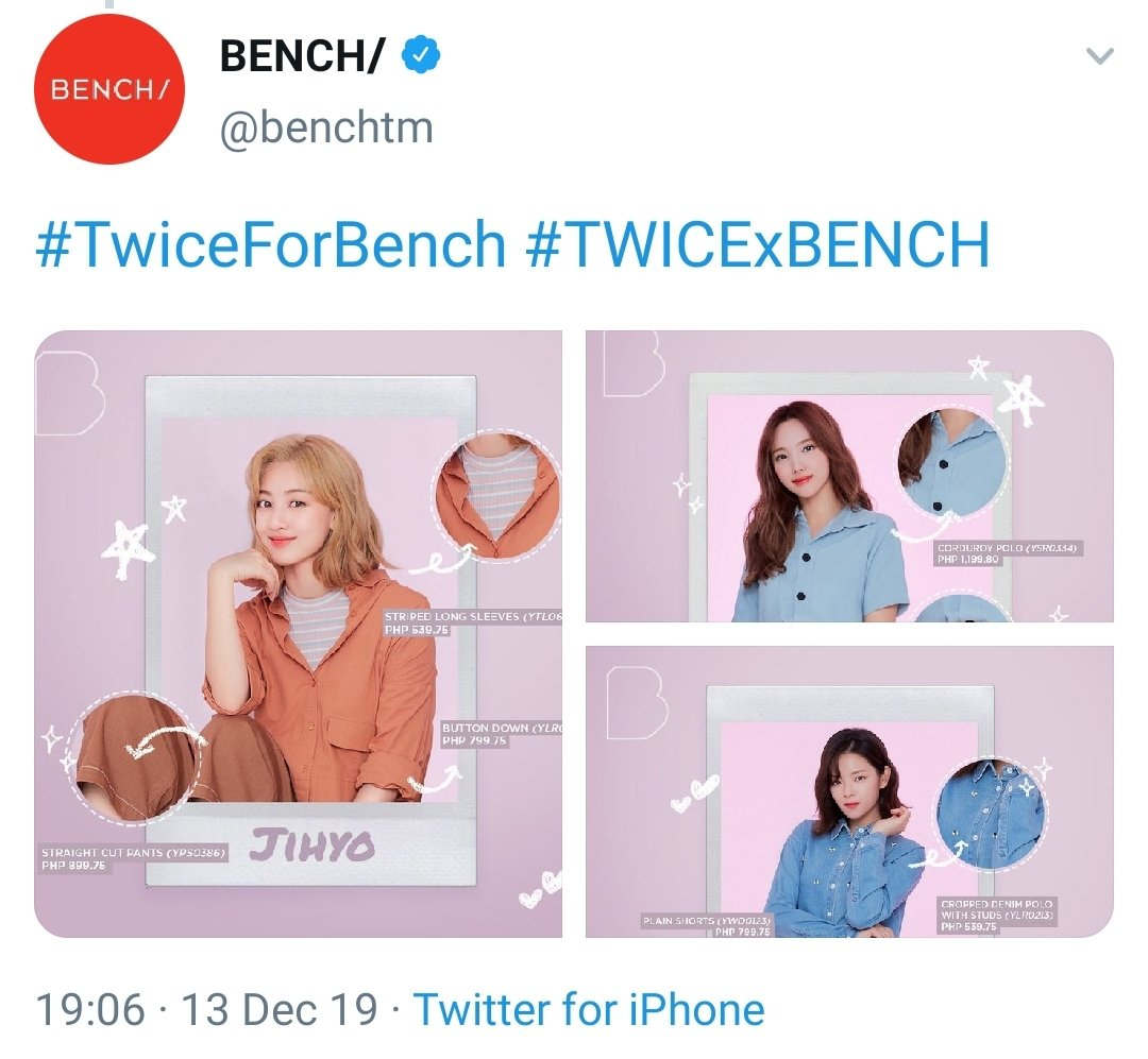 Bench actually sorted Twice according to 3mix line, J-line and School Meal Club.  First time I've seen a sponsor do it this way. Maybe they know more than we think.   #TwiceForBench #TWICExBENCH <br>http://pic.twitter.com/Iq7VVQ41IX