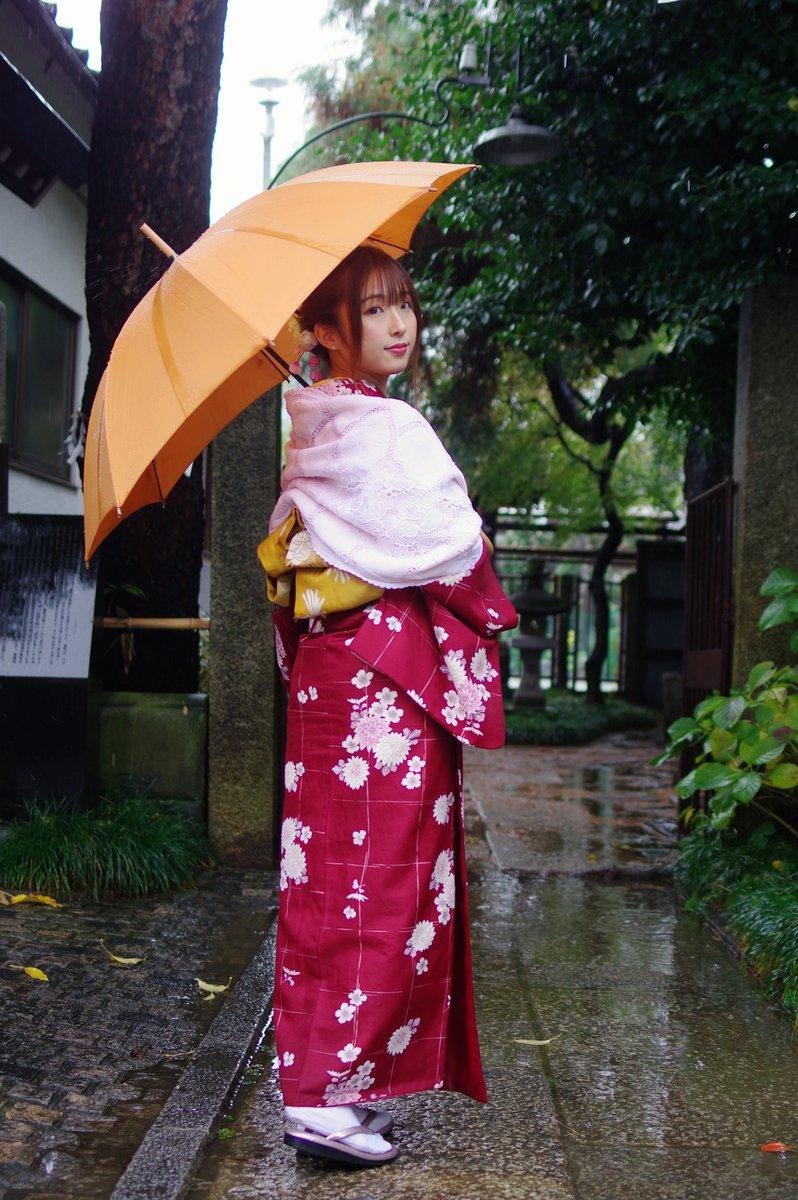 アメブロを更新しました。 『宮野すず@川越 5』#宮野すず @suzumiyano0624 #arch撮影会 @arch_satsueikai #小江戸川越 #和服 #雨撮 #PENTAX