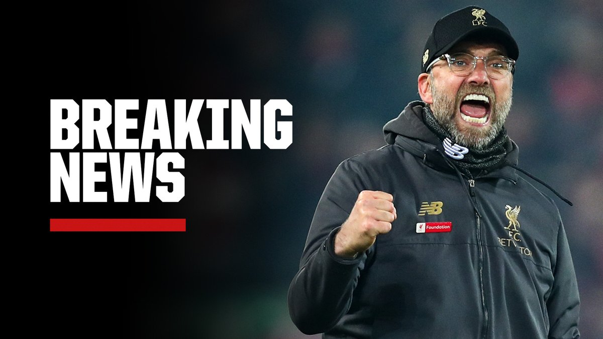 BREAKING: Jurgen Klopp signs a new contract at Liverpool until 2024.