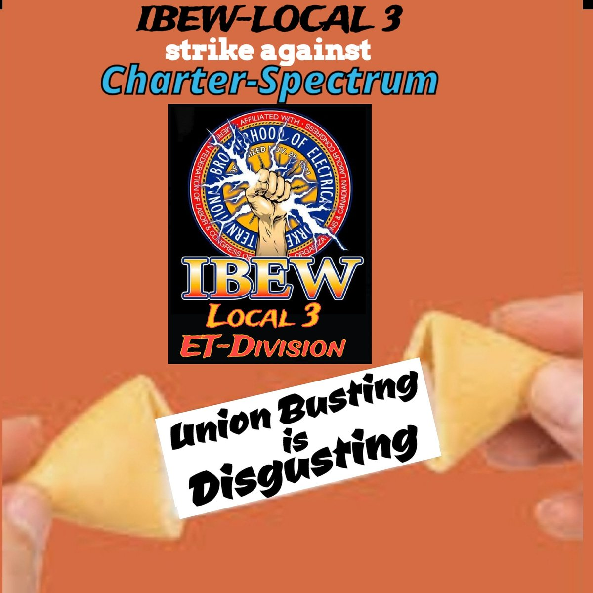Day 991 Brothas & Sisthas a fortune cookie shouldn't be needed to highlight the truth. But the truth isn't being told about Charter/Spectrum. They're allowed to Lie & do business in NYC. All at the same time. #SpectrumStrike #Local3 #FairContractNow #corporategreed<br>http://pic.twitter.com/OBcoPrXrAH