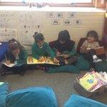 Image for the Tweet beginning: Children enjoying the reading area.