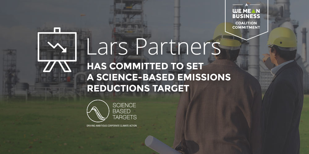 Welcome Lars Partners! Thanks for joining 734 companies committed to set @sciencetargets: wemeanbusinesscoalition.org/commitment/ado… @CDP