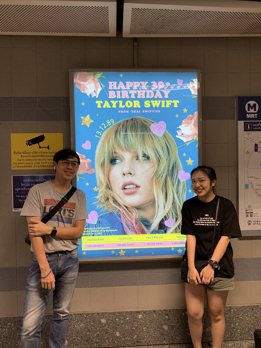 Don't know what to say but we're really really 💗💗💗💗💗💗💗💗💗💗💗💗 you #IStandWithTaylor forever and ever 🥺 @taylorswift13 #HBDTaylorSwiftProjectTH #HappyBirthdayTaylor