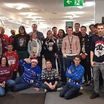 Image for the Tweet beginning: Great #ChristmasJumperDay here in #Sheffield