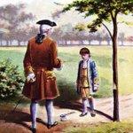 Image for the Tweet beginning: 12月14日 米国初代大統領  #ワシントン 逝去(1732-1799) 幼少時に桜の木を切ったことを父に正直に話すと褒められたという逸話が知られています。これはウィームズという牧師が書いた伝記にありますが、作り話の可能性が高く、ウィームズが牧師であるかどうかも疑わしいそうです。 #キリスト教豆知識