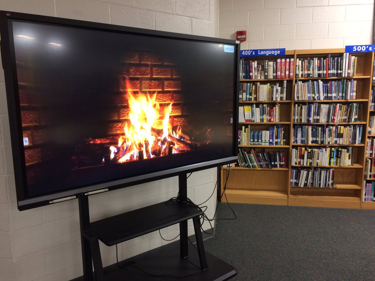 The weather outside is frightful, but it's cozy here in the @LithoniaHigh Library Media Center!