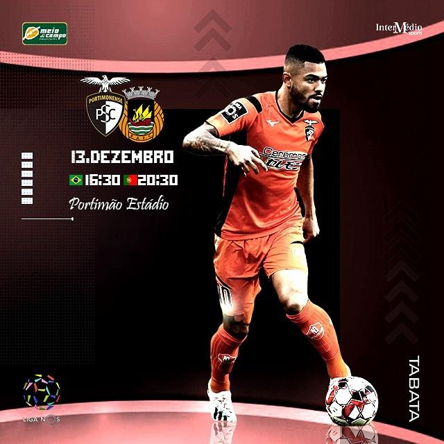 Logo mais, o @PortimonenseSC, do atacante @brunotabata_, encara mais um desafio pela #Liganos!!! O adversário da vez é o @RioAve_FC Boa sorte, garoto!!! #MeiodiCampo #AssessoriaEsportiva #FutebolLevadoASerio #Portimonensepic.twitter.com/f2Hm6Q26q9