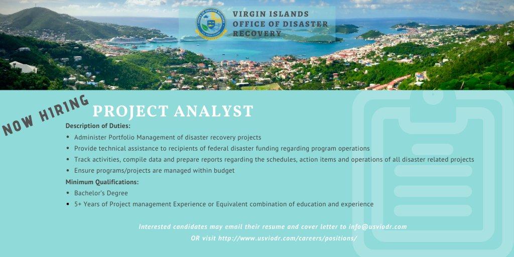 Virgin Islands Office Of Disaster Recovery (@USVIODR)   Twitter