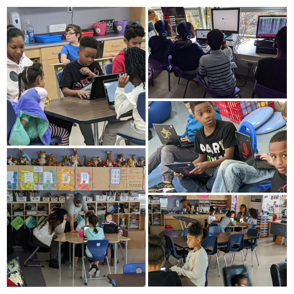 Parents and students in #CSEdWeek2019 action @HMSTEAMtigers @ReynSchools #reynproud