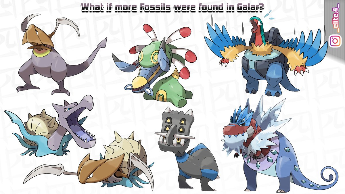 Inspired by @badafra  What if more Fossils were found in Galar? #Pokemon #PokemonSwordShield #artist #ArtistOnTwitter<br>http://pic.twitter.com/FJo06ZYdps
