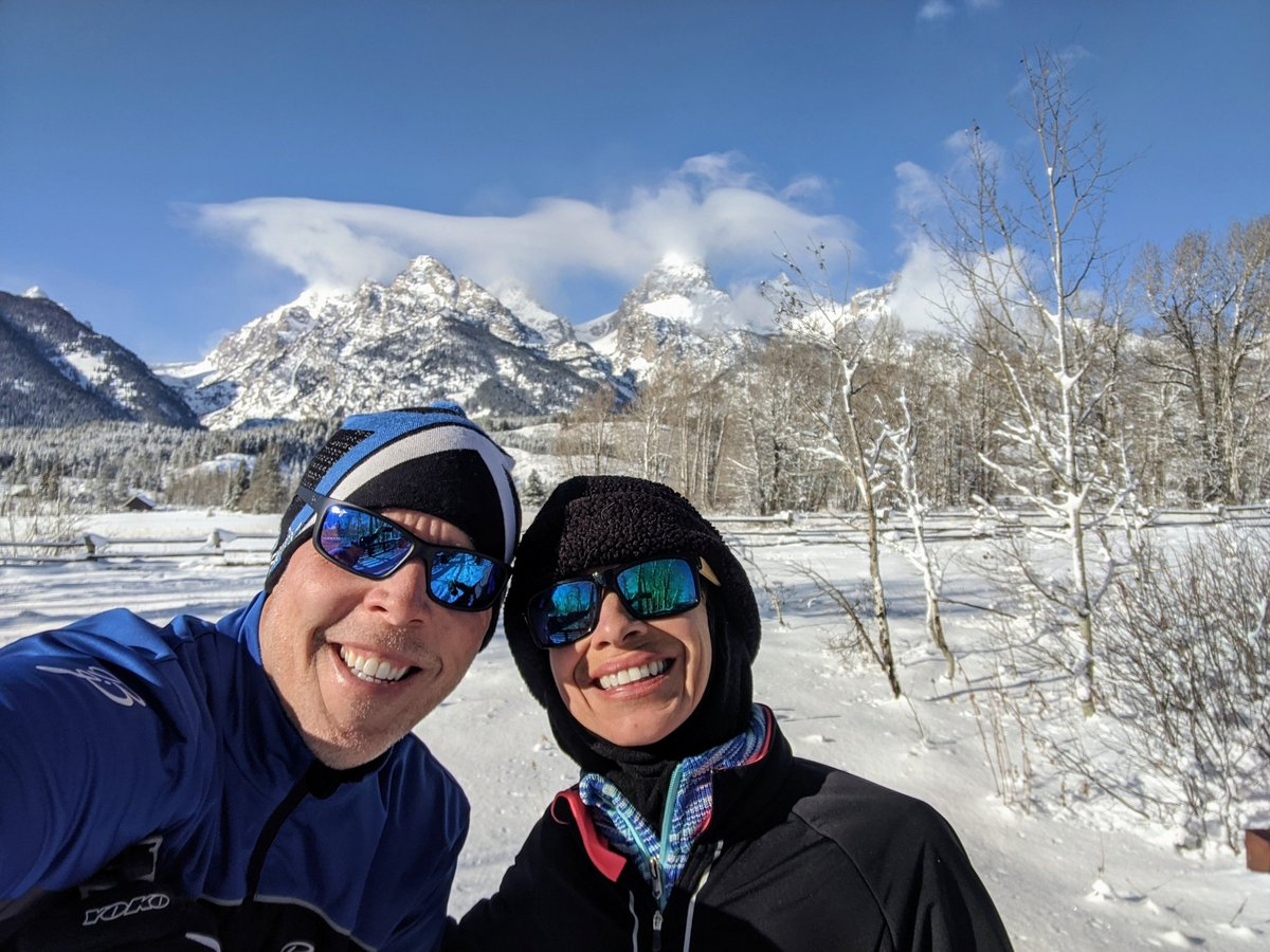 Cross country skiing in the Tetons! <br>http://pic.twitter.com/pcsQyCCSug