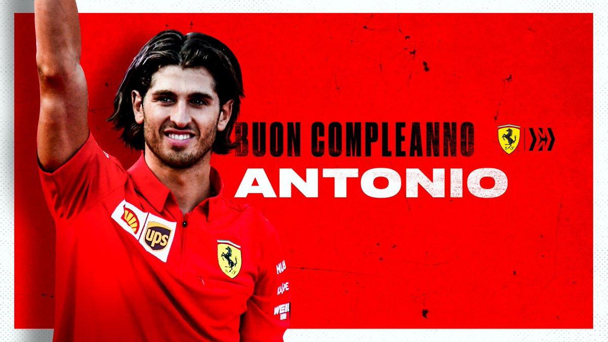 Tanti auguri @Anto_Giovinazzi 🥳  26 today 🤩  All the best from the @ScuderiaFerrari family ❤️  #essereFerrari 🔴