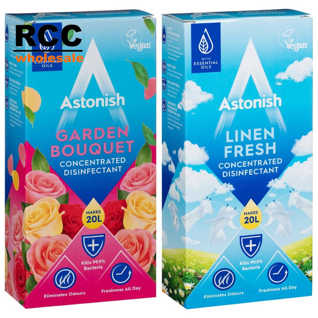 Astonish Concentrated Disinfectant 500ml  Now Available! Unbelievably when diluted this makes 20 litres of fresh smelling heaven. Much better value than a strangely named similar product. Gotta be happy with that! #rccwholesale #astonish #astonishcleaners# #cleaningproducts pic.twitter.com/nIngRBPb5A