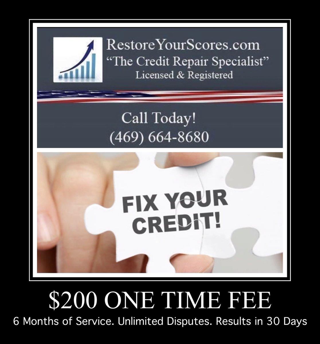 Call today!   #creditrepair #credit #creditrestoration #creditscore #creditrepairservices #tradelines #goodcredit #financialfreedom #money #badcreditpic.twitter.com/3w3KODYUKM