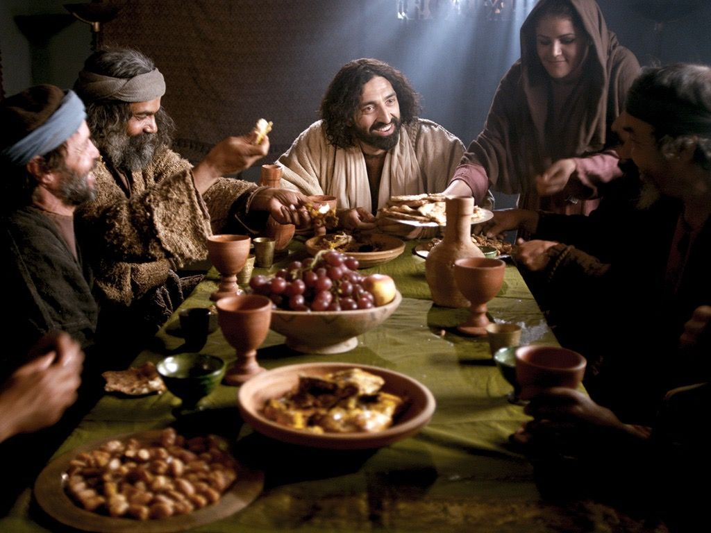 """Gospel: Jesus says, """"The Son of Man came eating and drinking and they said, 'Look, he is a glutton and a drunkard"""" (Mt 11). Years ago, I asked a biblical scholar what this meant. """"Jesus is being critiqued for 'living it up'!"""" he said. The """"telos,"""" or end, of discipleship is joy. <br>http://pic.twitter.com/rwRz0tyH1j"""