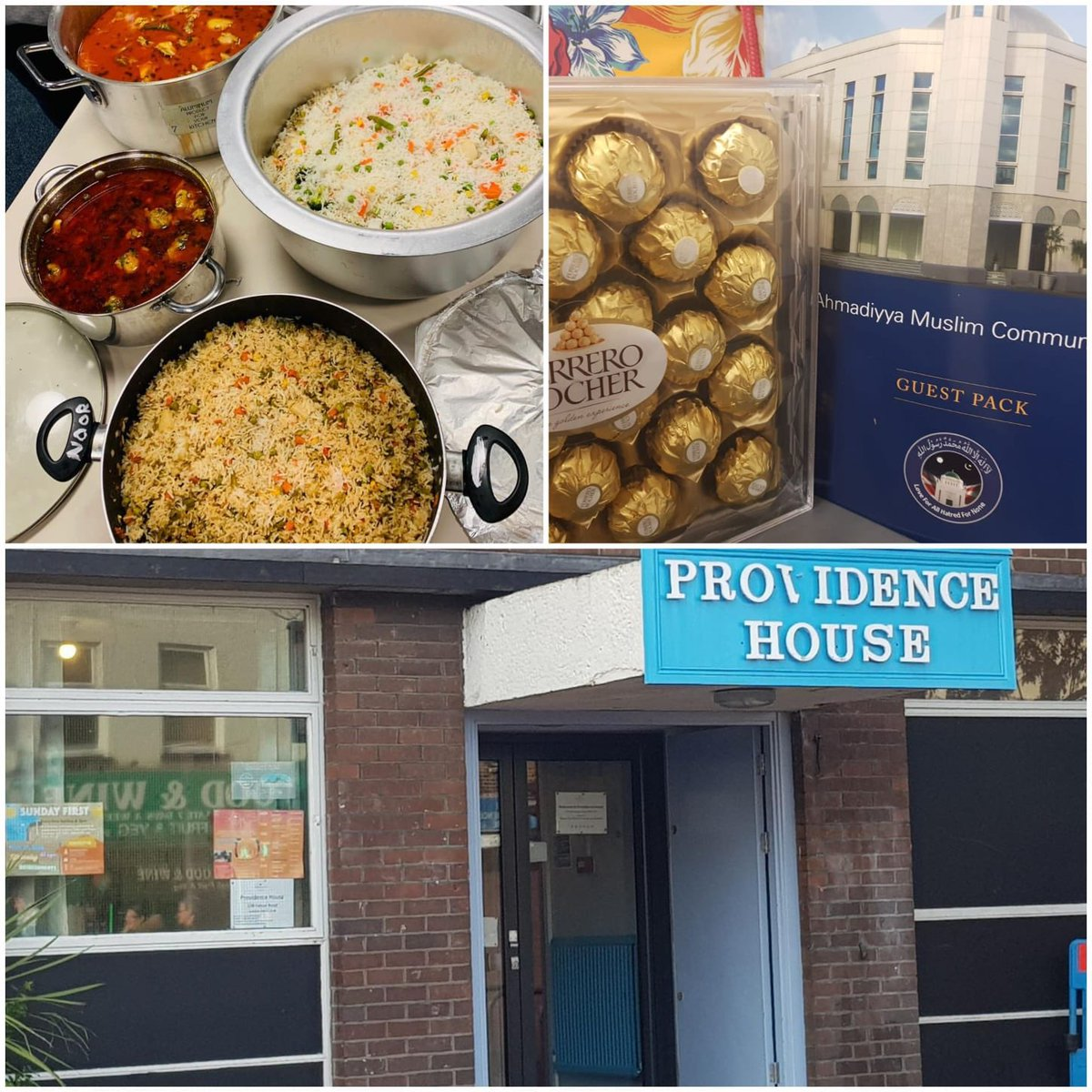 Lajna #ClaphamJunction went to the local #ProvidenceHouse to give food for homeless people. A act of kindness. A support to community.