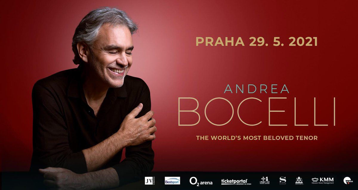 Following his recent sold out performance in #Prague, Maestro Andrea Bocelli is set to return to the #CzechRepublic capital in 2021! The world's most beloved tenor will perform at the O2 Arena on the 29th of May, 2021. Tickets on sale at: ticketportal.cz/event/ANDREA-B…