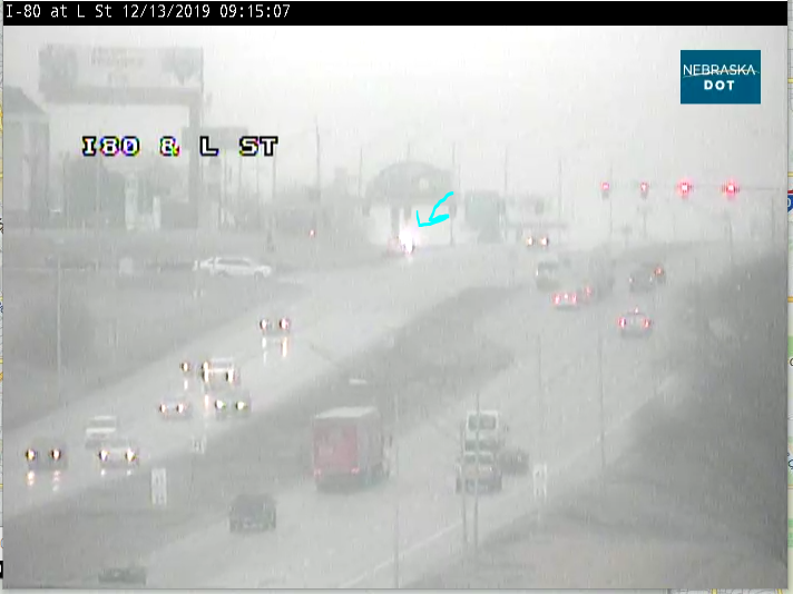 Image posted in Tweet made by Omaha Hwy Conditions on December 13, 2019, 3:18 pm UTC