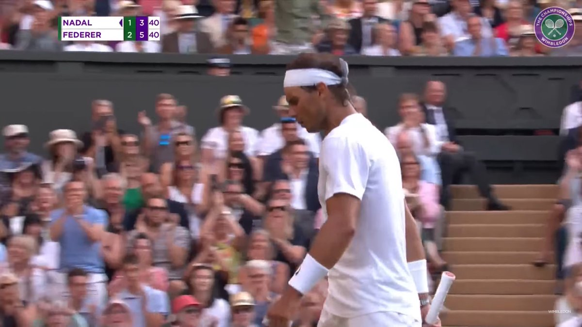 I enjoyed this part of Wimbledon the most, right there! Rafa's foot looked so sore too  https:// youtu.be/wZnCcqm_g-E?t= 9899  … <br>http://pic.twitter.com/5PXIAc1cXB