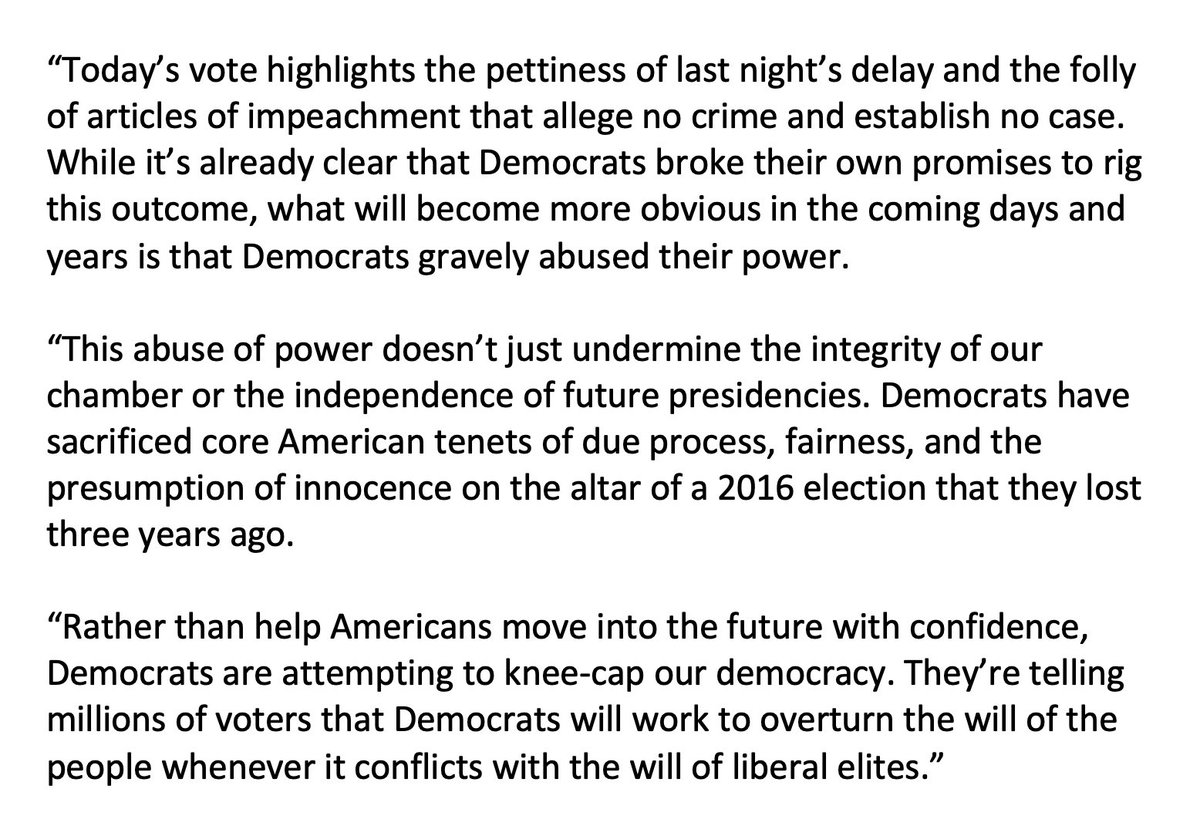 It's already clear that Democrats broke their own promises to rig this outcome. What will become more obvious in the coming days and years is that Democrats gravely abused their power in their effort to knee-cap our democracy.