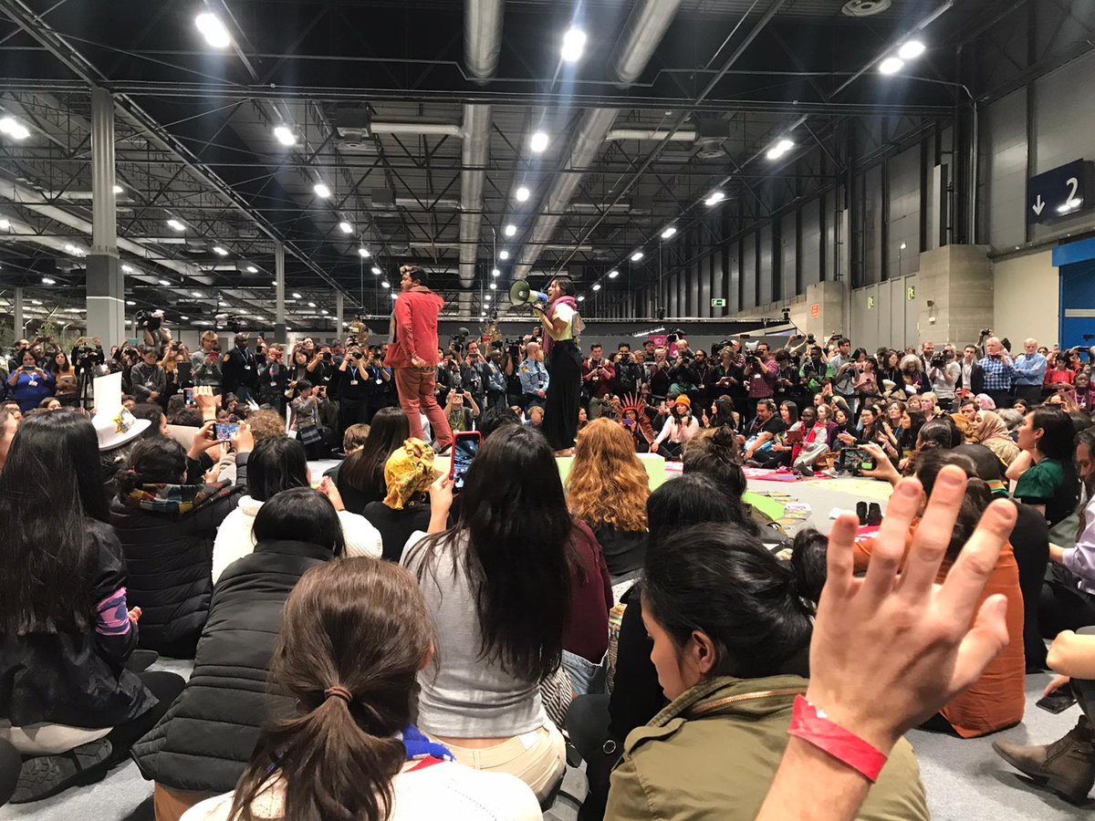 sit-in inside COP25
