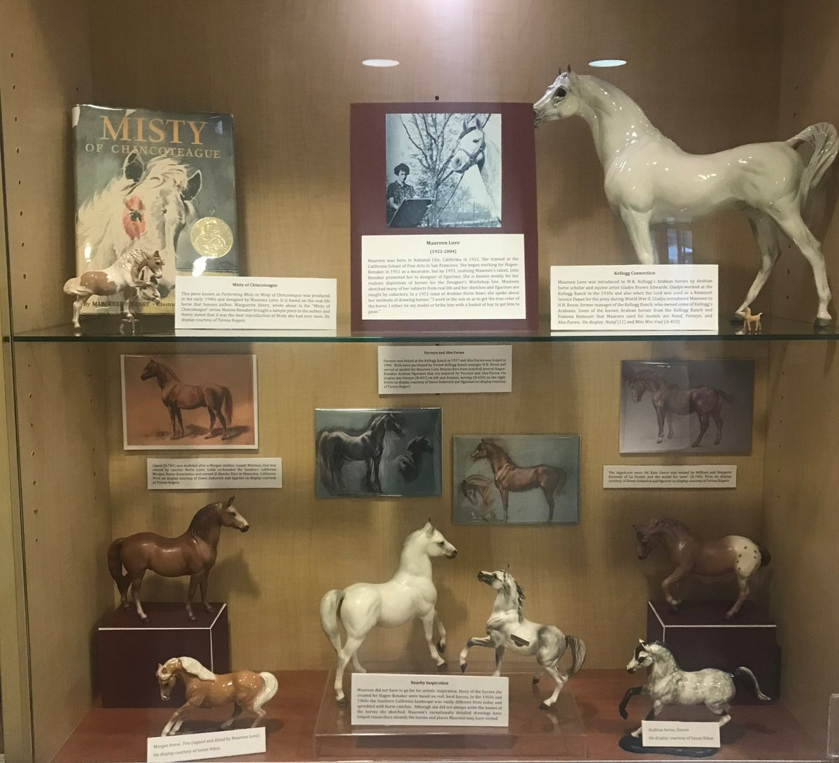W K Kellogg Arabian Horse Library On Twitter Happy Nationaldayofthehorse This Photo Is From The Hagen Renaker Exhibit It Will Be Uninstalled Next Week Of Artist Maureen Love And Some Of The Exquisite Horse