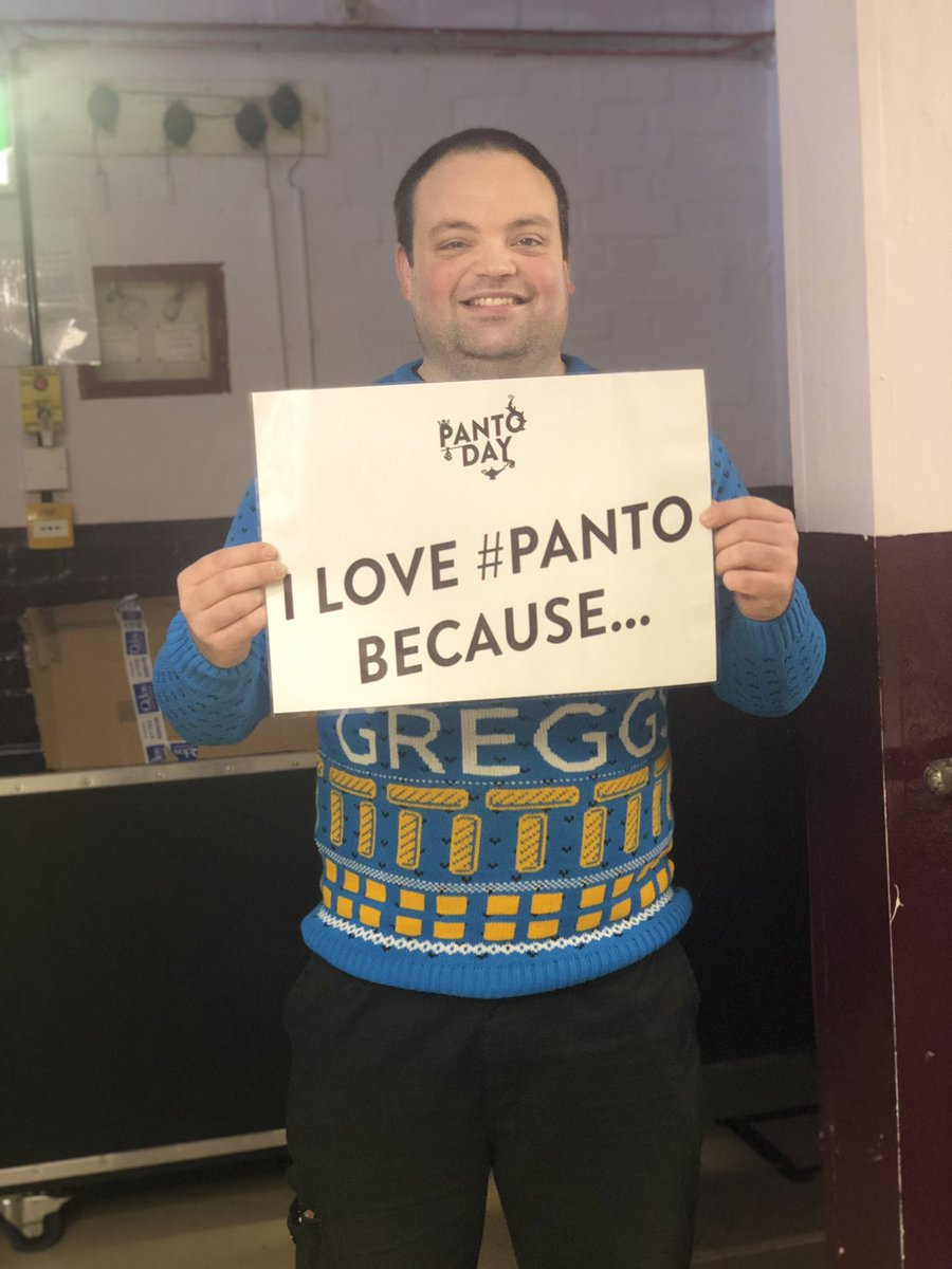 """...it's fun for all the family!"" - Nathan, Technican 🔧 #swinpanto #panto #pantoday @panto_day @GreggsOfficial"
