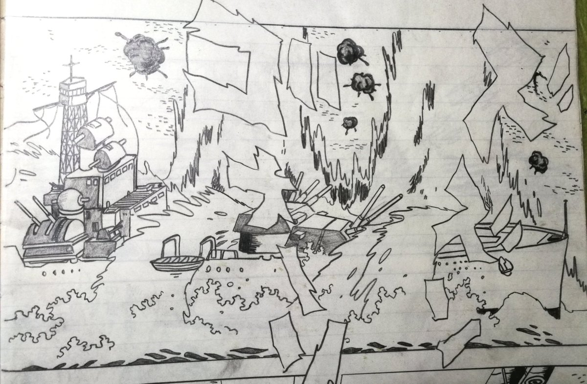 小学校の時の絵と42年経った後の絵がやってることも構図も同じだった衝撃。