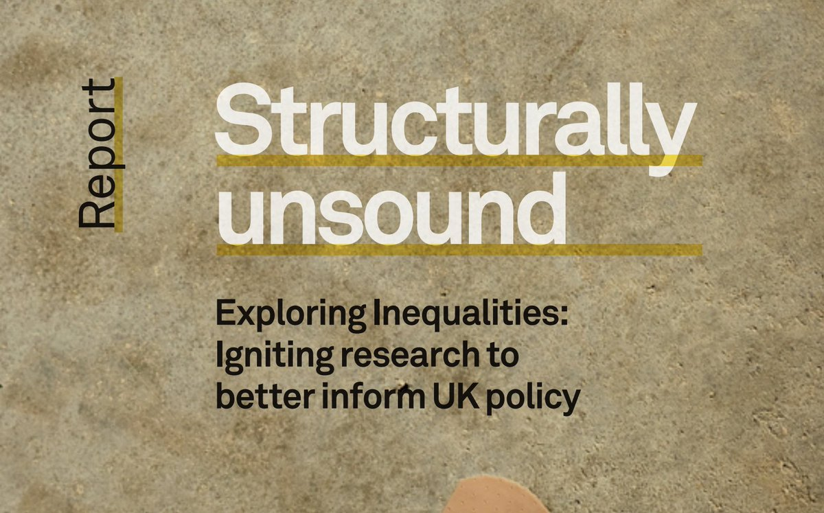 As the #GE2019 has shown, place matters more than ever in UK politics and policy spheres - as @UCL_GCJE @UCLPublicPolicy and @resfoundation's #StructurallyUnsound report highlights: bit.ly/35jI7mk