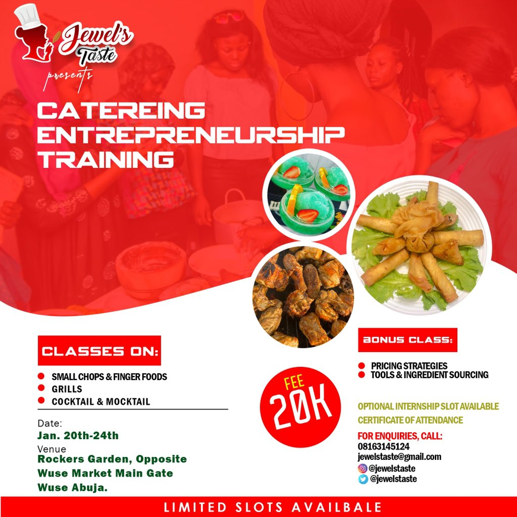 Below are the pictures of catering training that I organized as an undergraduate at the University of Ilorin. I have chosen to replicate this in Abuja where I did my NYSC to impact fellows who might need this training to develop and start a living. retweet pls. #KwasuVsUnilorin<br>http://pic.twitter.com/ehsrpDMmHB