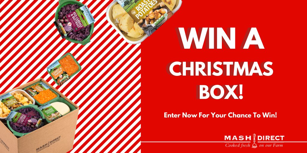 Mash Direct Christmas Box Competition!  Simply RT and tag a friend for your chance to take home one of our Christmas Boxes!  Filled with all of the Christmas vegetables you need for a Christmas Feast  Order your Christmas Box Today!:  https://www. mashdirect.com/range/christma s-box/   … <br>http://pic.twitter.com/oBphtMQtyd